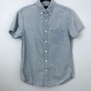 J. Crew Men's Short-Sleeve Chambray Button Down S
